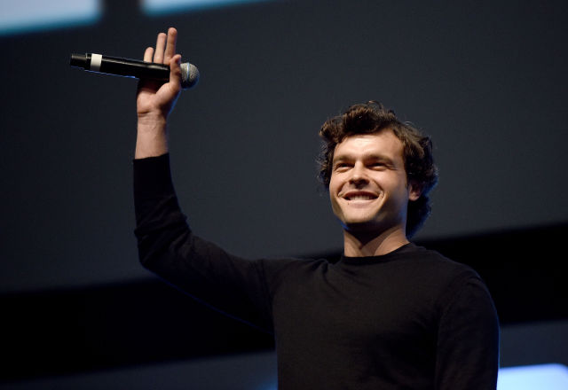 Alden Ehrenreich, who will play Han Solo in at least one upcoming film, appears at the Star Wars Celebration 2016 in London, England.