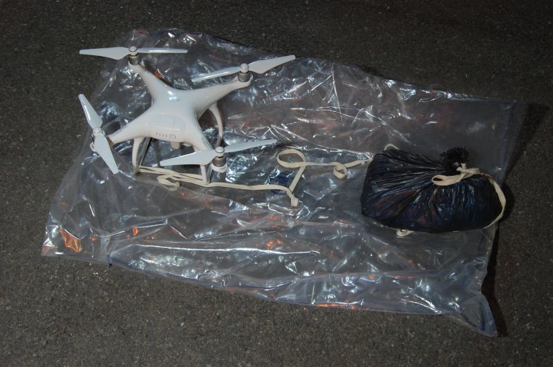 Police seize drones carrying drugs, phones over London prison