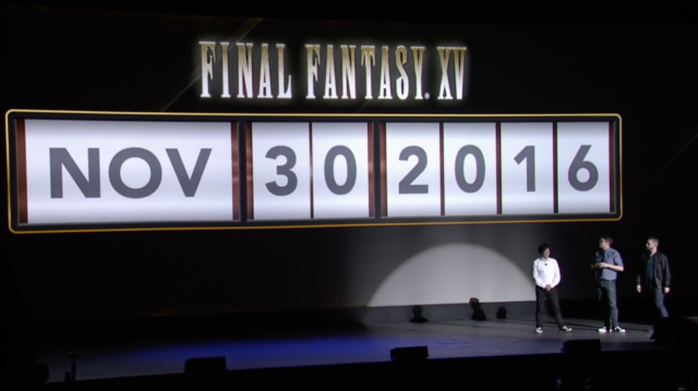 Final Fantasy XV worldwide launch officially delayed to November 29
