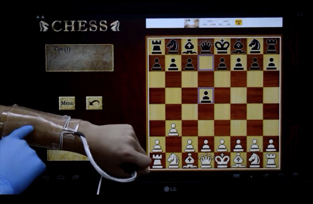 Gel-based touchpad lets you play chess on your arm
