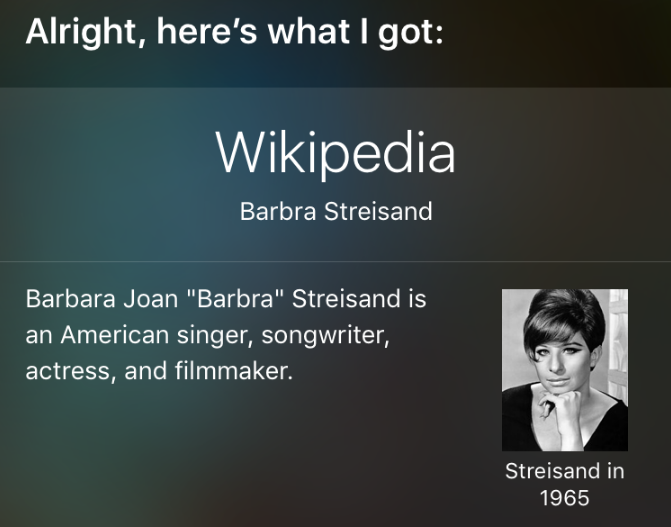 The new Streisand Effect: Barbra calls Tim Cook to change Siri's pronunciation