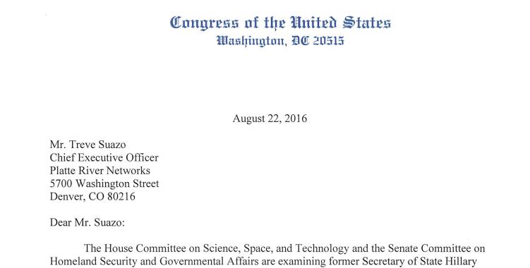 Clinton e-mail service providers served subpoenas by House, Senate ...