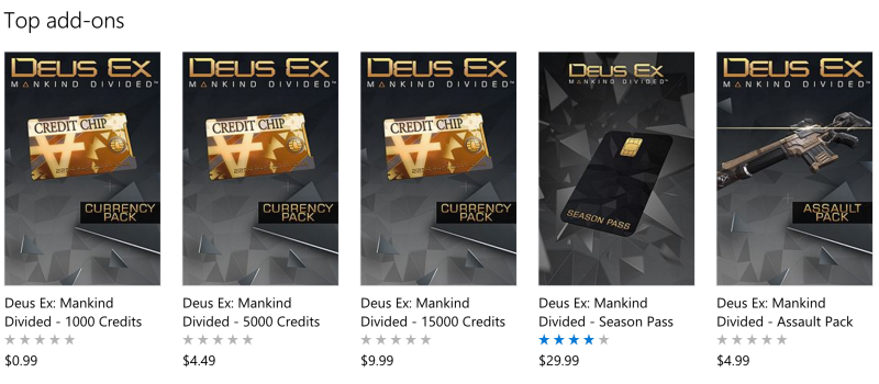 Wanna get more in-game currency, weapons, and experience-point boosts in the new Deus Ex game? Pay up, suckers.
