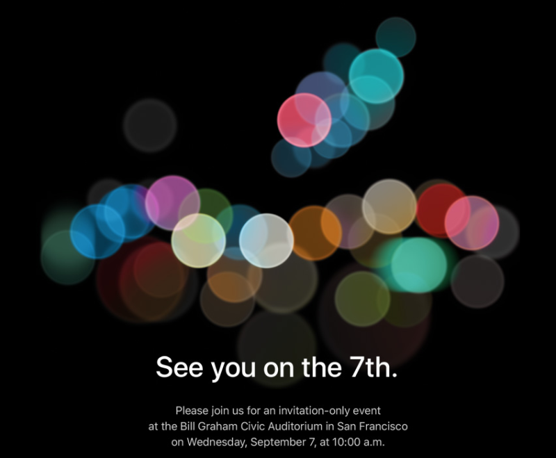 """See you on the 7th"": Apple announces date for new announcements"