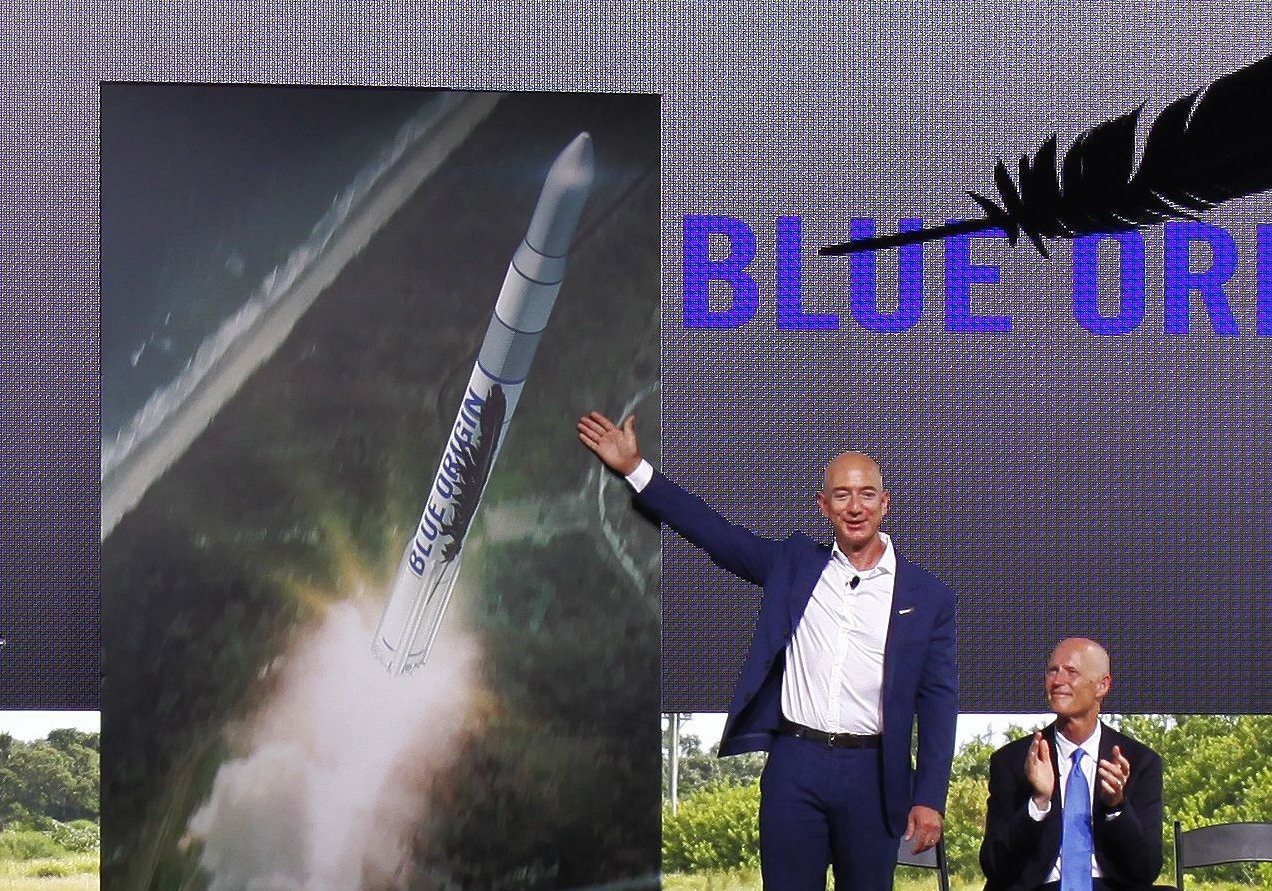 Blue Origin's Jeff Bezos says his company will fly an orbital rocket by the end of this decade.