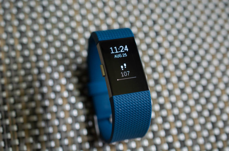 The Charge 2 is a slightly bigger version of Fitbit's Alta.