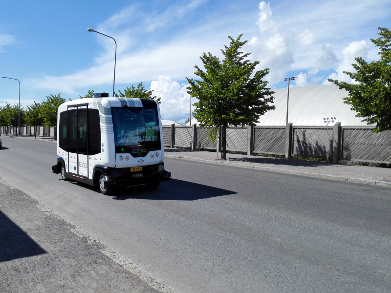 Dinky driverless buses bustle with commuter traffic in Helsinki