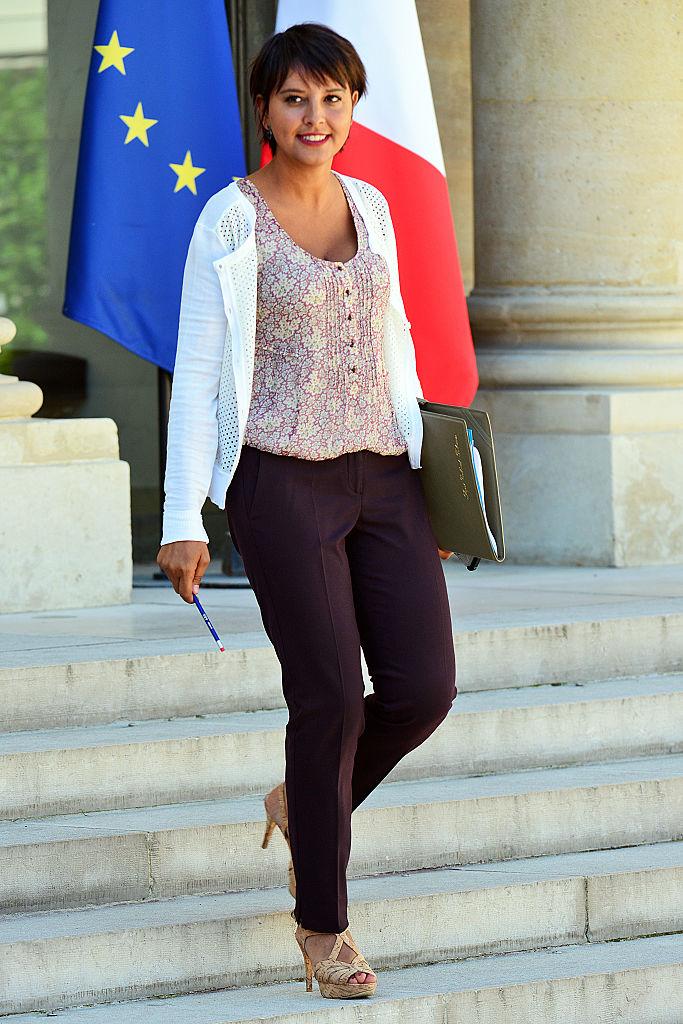 French Education minister Najat Vallaud-Belkacem, leaving the Elysee Presidential Palace last week in Paris.