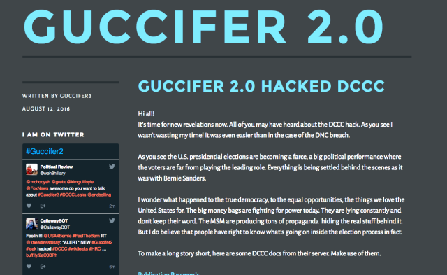Guccifer 2.0 doxes hundreds of House Democrats with massive document dump