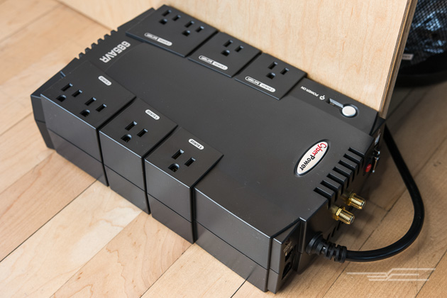 c4e8f4043 The CyberPower CP685AVR sits under your desk like an overgrown surge  protector.