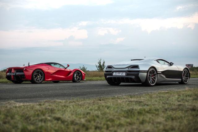 Rimac's Concept_One electric car drag-races a Tesla Model S and LaFerrari