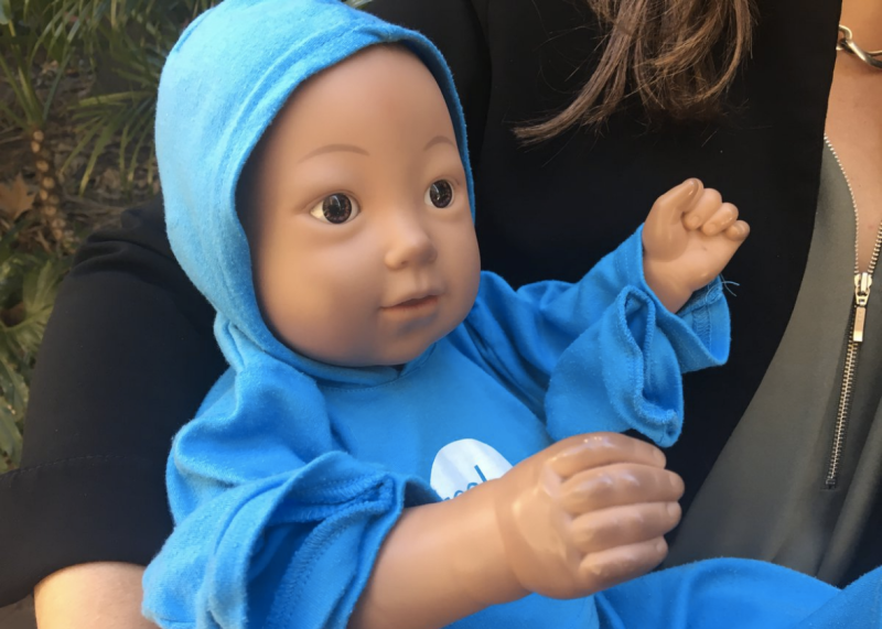 A virtual baby identical to those used in the study.