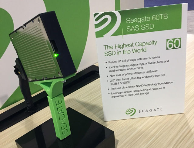 Seagate's new 60TB SSD is world's largest