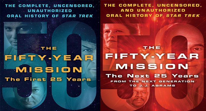 The two-book set, full of interviews with cast, writers, and crew, will give you a glimpse of the good, the bad, and the ugly behind the scenes on Star Trek.