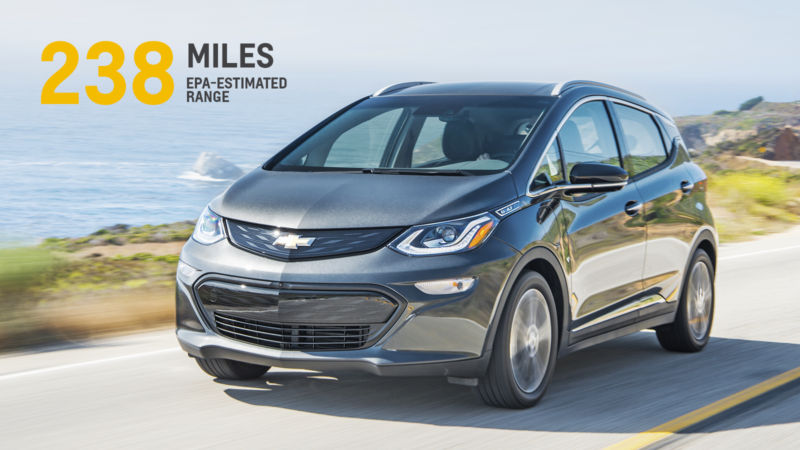 The numbers are in: The Chevrolet Bolt will have a 238-mile range