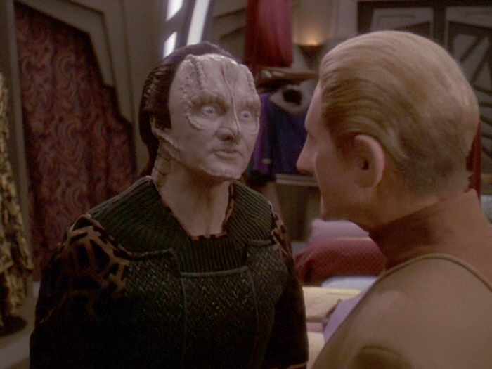 Garak gives Odo the eye.