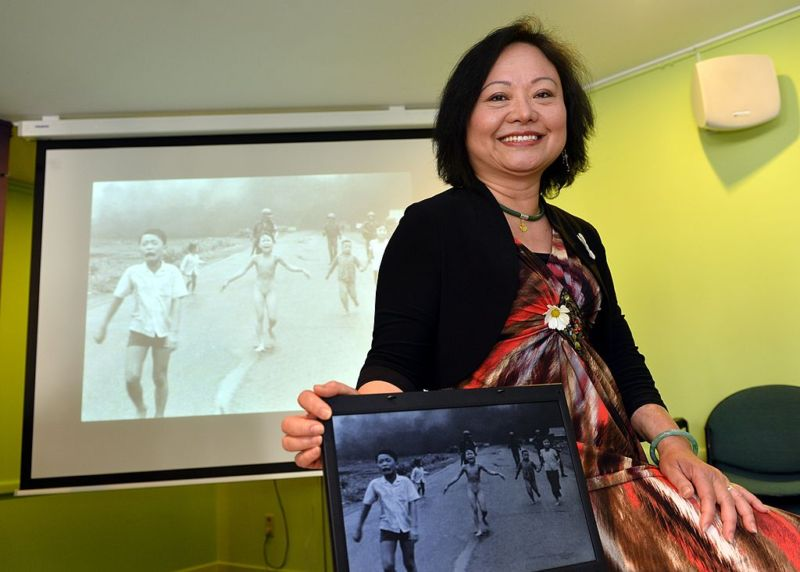 Kim Phuc is the girl pictured in an iconic picture—censored by Facebook—that was taken by photographer Nick Ut during a napalm strike in the Vietnam war.