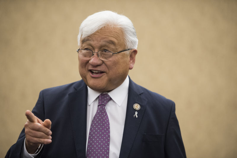 "Rep. Mike Honda (pictured here) sued his challenger, Ro Khanna, ""Ro for Congress,"" and Brian Parvizshahi, Khanna's former campaign manager, on Thursday."