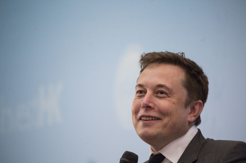 Elon Musk speaks during the StartmeupHK Venture Forum in Hong Kong, China, on Tuesday, Jan. 26, 2016.