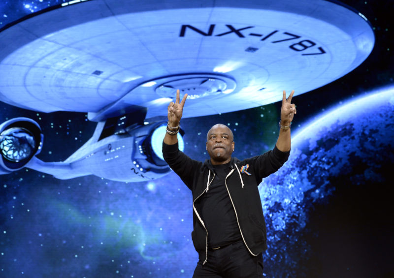 LeVar Burton, who played Lt. Cmdr. Geordi LaForge in <em>Star Trek: The Next Generation</em>, is voting for Hillary Clinton in the 2016 presidential election.