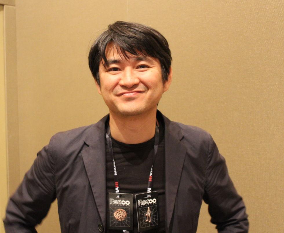 Tetsuya Mizuguchi, seen here keeping his composure.