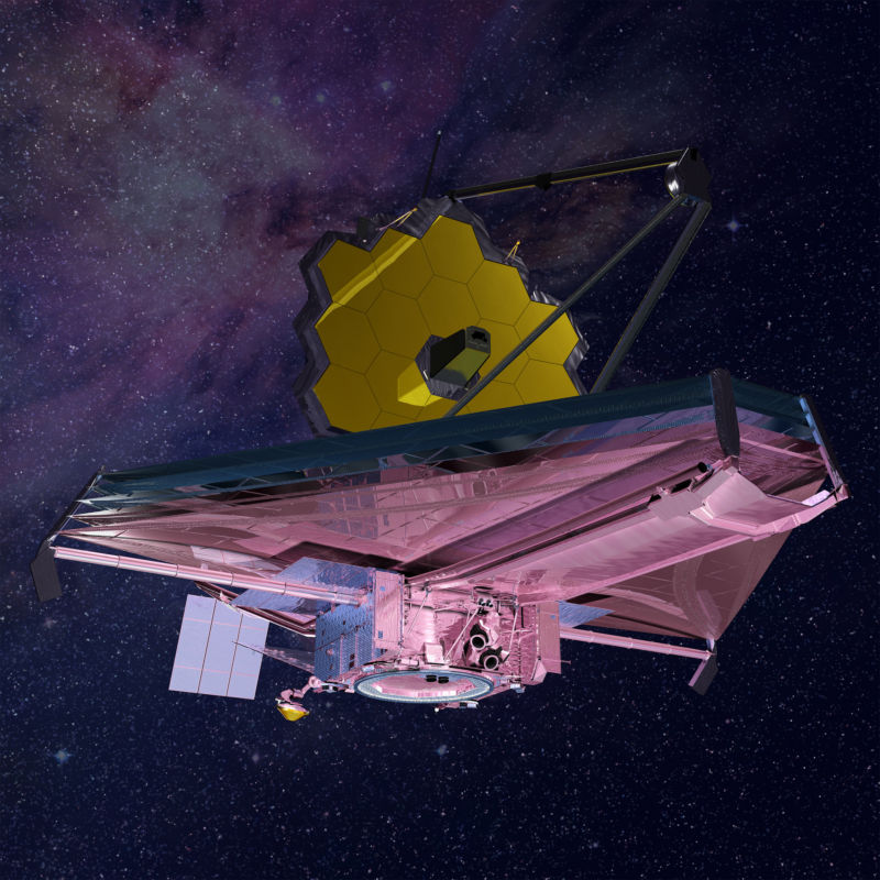 Artist's impression of the James Webb Space Telescope.
