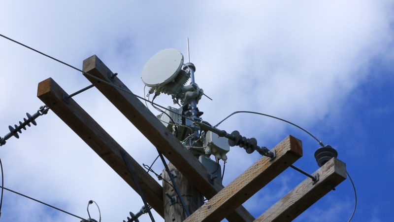 An antenna used by AT&T's Project AirGig.