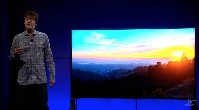 A livestream representation isn't a good way to show off HDR, but Sony's Mark Cerny attempts to show it off.