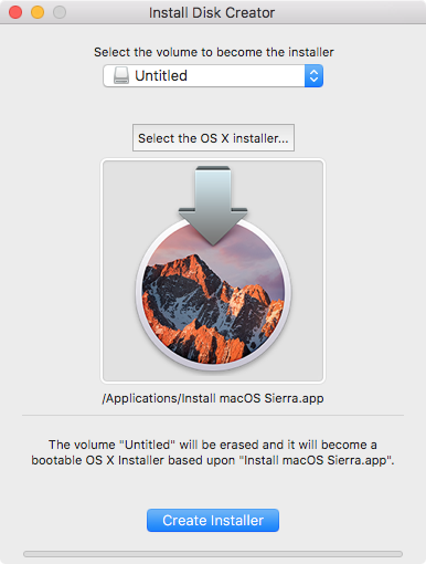 How to make your own bootable macOS 10 12 Sierra USB install drive