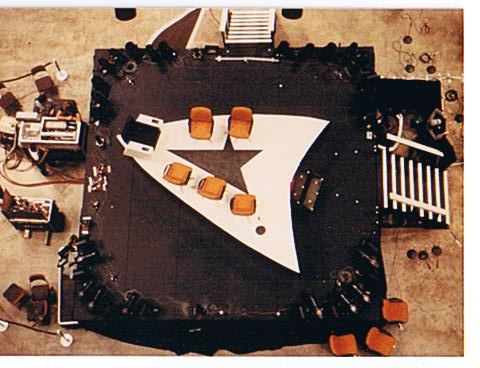 This is the rotating stage, as seen from above.