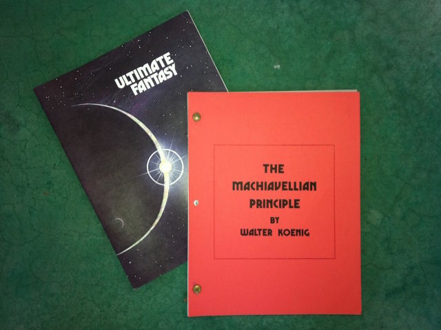 This was the program for the show (left), with a copy of the script written by Walter Koenig.