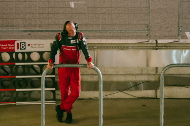 Audi Motorsport head Dr. Wolfgang Ullrich looks disappointingly down the pit lane. 2016 was yet again Audi's race to lose, and it did.