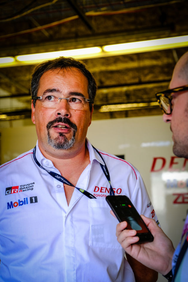 Rob Leupen, team director for Toyota Gazoo Racing, talking to Ars before the race.