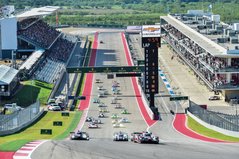 The start of the WEC 6 Hours of Circuit of the Americas.