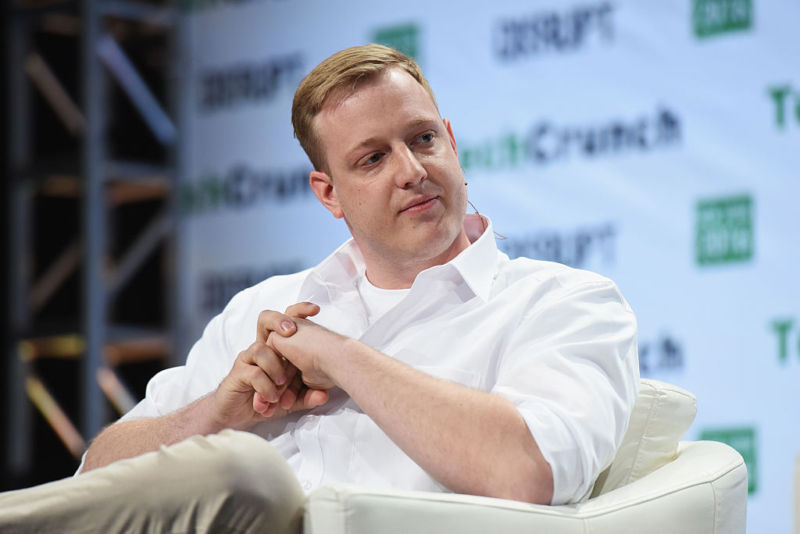 Adblock Plus CEO Till Faida at TechCrunch Disrupt NY 2016.