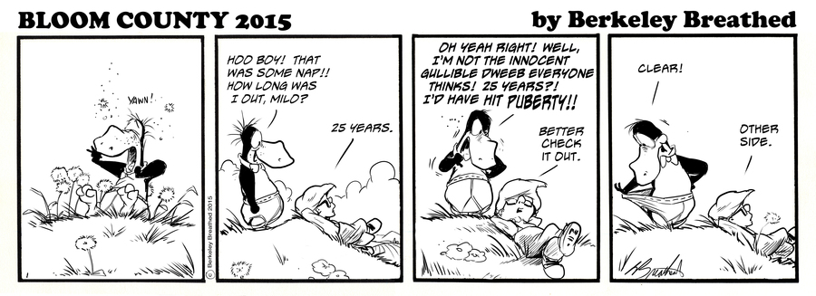 The return of <em>Bloom County</em> in July 2015