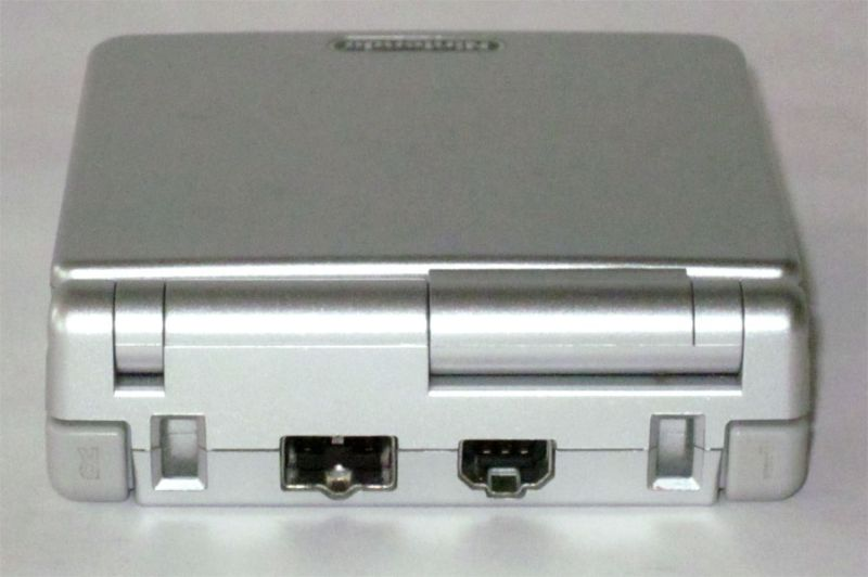 The Game Boy Advance SP and its external ports. Notice anything missing?