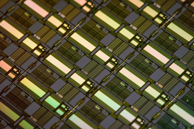 Memristor characterization silicon at Hewlett Packard Labs.