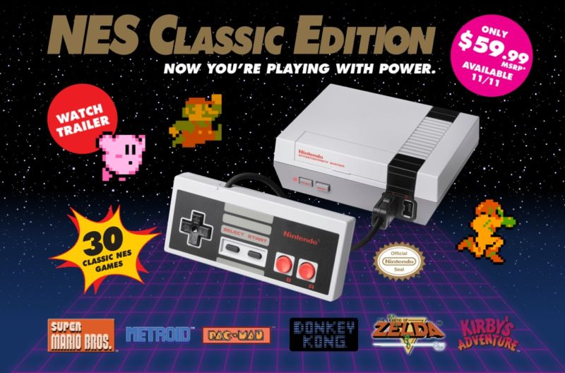 Tiny NES has tiny cord, great graphics