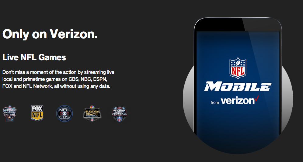 Verizon exempts its own NFL video app from mobile data ...
