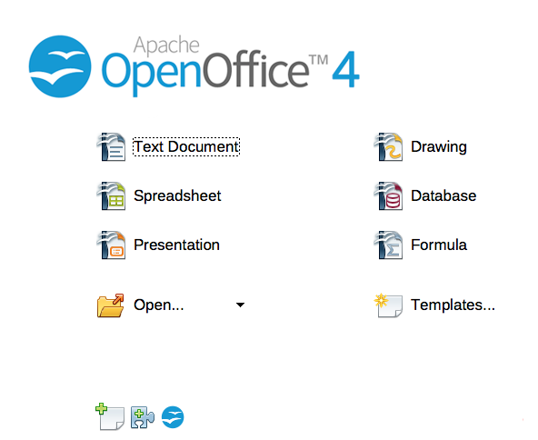 The latest version of OpenOffice.