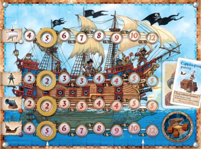 The <em>Pirate's Cove</em> player board.