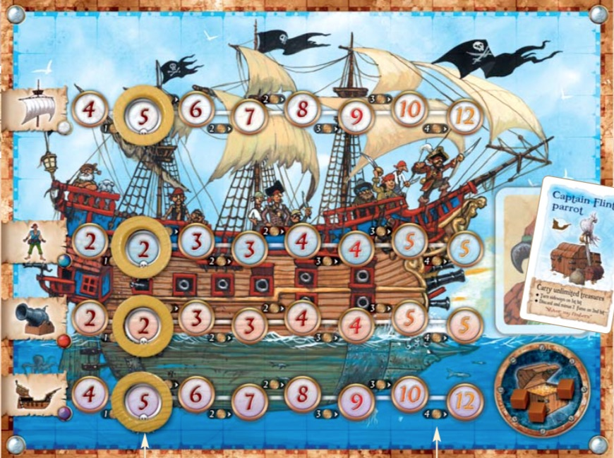 The <em>Pirate's Cove</em> player board.