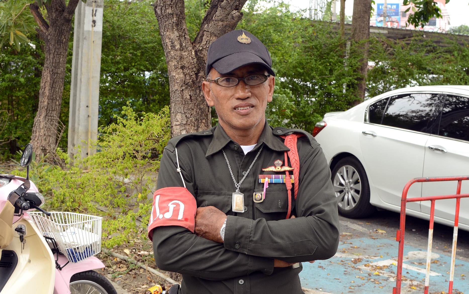 A Thai prison guard.