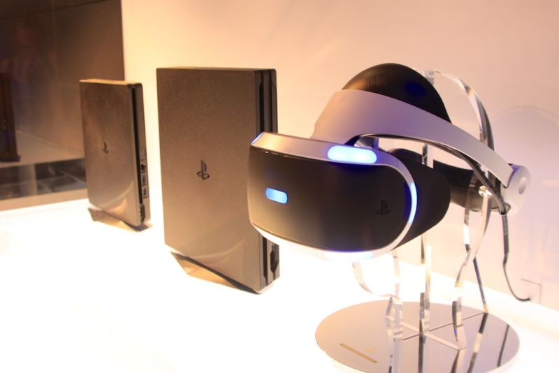 Alongside the PlayStation VR headset, which will work on both units.
