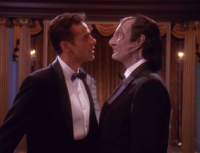 The actors who played Bashir and Garak on Deep Space Nine played up the romantic chemistry between the two men.