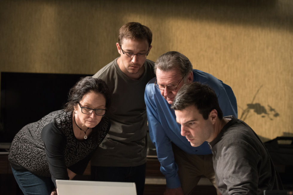 Melissa Leo, Joseph Gordon-Levitt, Tom Wilkinson, and Zachary Quinto recreate moments that had already been captured in the documentary <em>Citizenfour</em>.