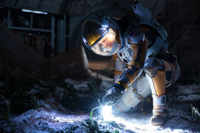 In <em>The Martian</em>, astronaut Mark Watney has to use most of his habitat's internal volume (and some poop) to grow crops to survive. Future Martian colonists will face similar issues.