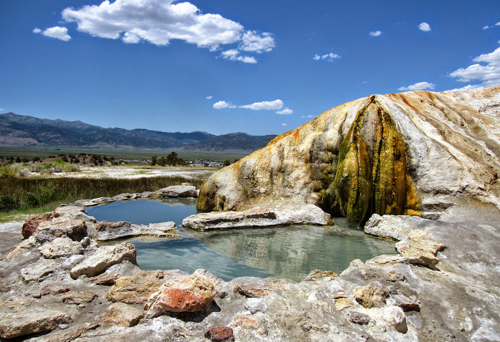 Travertine Hot Springs in California.