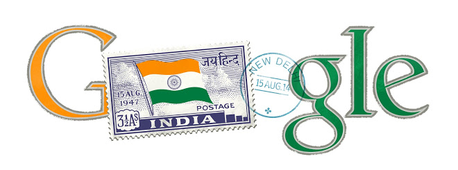 The Google Logo for India Independence Day 2014.